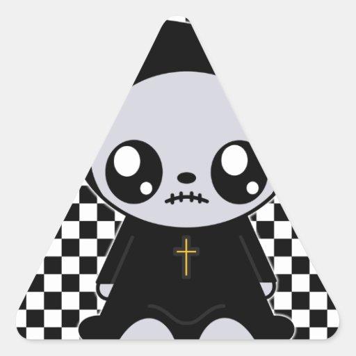 Kawaii Emo Triangle Stickers