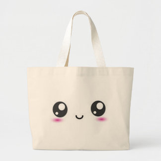 Kawaii Emoji Large Tote Bag