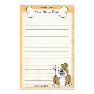 Kawaii English Bulldog Stationery