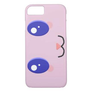 Kawaii Face Custom Colour Phone Case