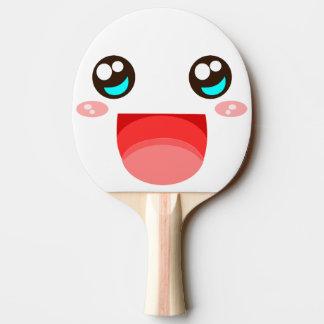 Kawaii face ping pong paddle