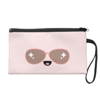 Kawaii Face with Sunglasses Wristlet