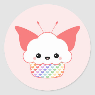 Kawaii Fairy Cake Classic Round Sticker