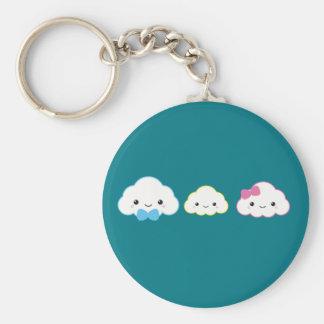 Kawaii Family Cloud Keychain