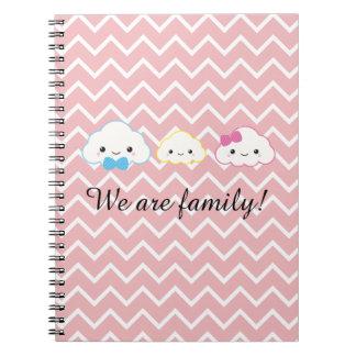 Kawaii Family Cloud Notebook