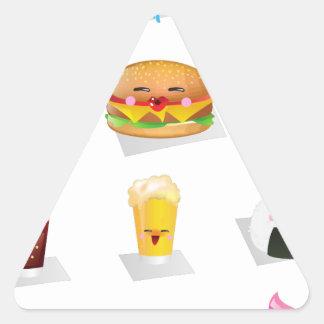 kawaii fast food triangle sticker