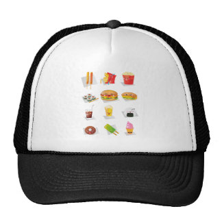 kawaii fast food trucker hat