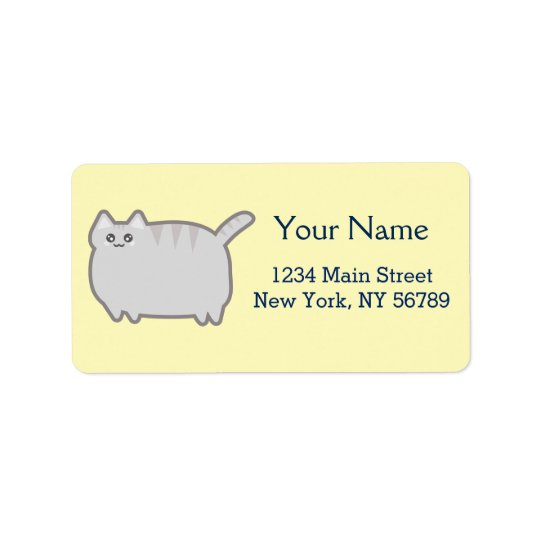 Kawaii Fat Cat Label