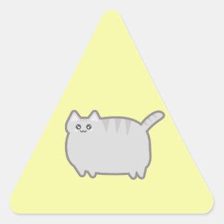 Kawaii Fat Cat Triangle Sticker