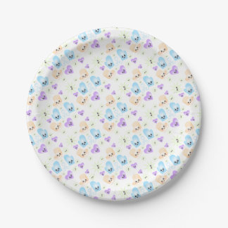 Kawaii Figure Skate Birthday Party Paper Plate