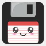 Kawaii Floppy Disc Square Sticker