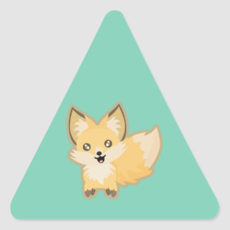 Kawaii Fox Triangle Sticker