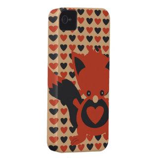 Kawaii Foxy Hearts iPhone 4 Case-Mate ID iPhone 4 Case