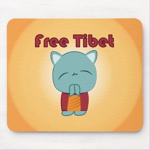Kawaii Free Tibet Kitty mouse pad