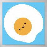 Kawaii Fried Egg Poster