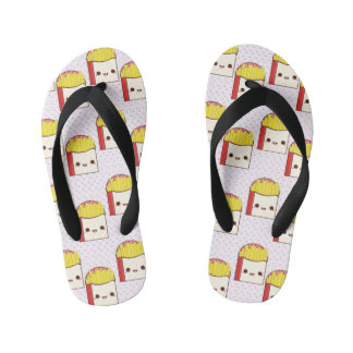 Kawaii Fries Kid's Flip Flops