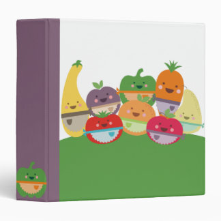 kawaii fruits vegetables recipe cookbook binder