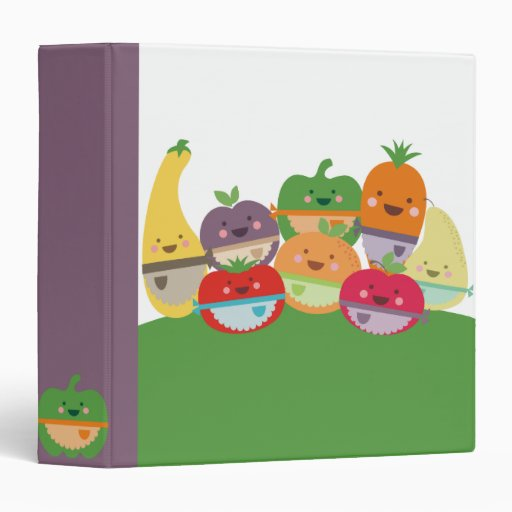 kawaii fruits vegetables recipe cookbook binder