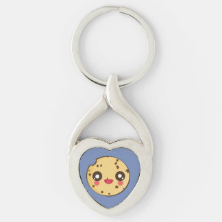 Kawaii, fun and funny cookie keychain