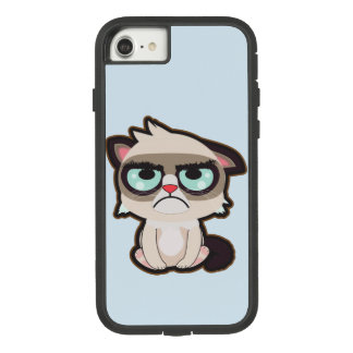 Kawaii, fun and funny grimmy cat iphone 7 case