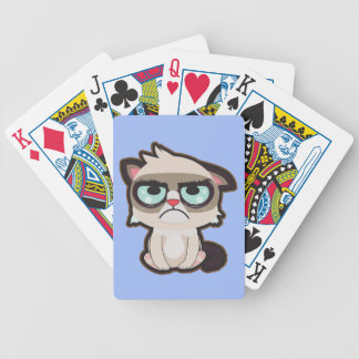 Kawaii, fun and funny grimmy cat playing cards