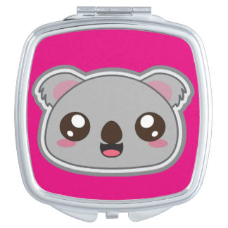 Kawaii, fun and funny koala compact mirror