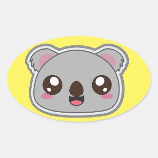 Kawaii, fun and funny koala elipse sticker