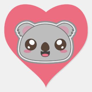 Kawaii, fun and funny koala heart sticker