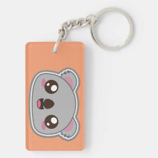 Kawaii, fun and funny koala square keychain