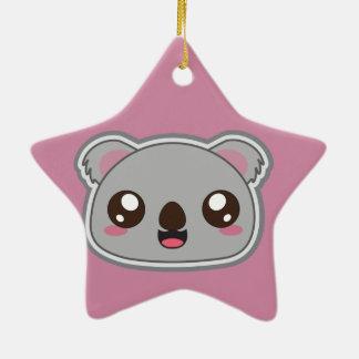Kawaii, fun and funny koala star ornament