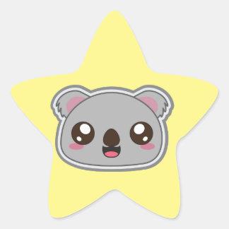 Kawaii, fun and funny koala star sticker