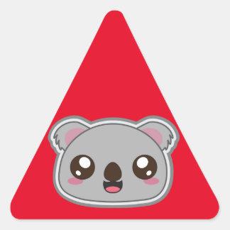 Kawaii, fun and funny koala warning sticker