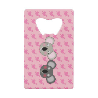 Kawaii, fun and funny koalas in love bottle opener wallet bottle opener