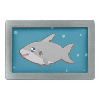Kawaii, fun and funny shark attack belt buckle
