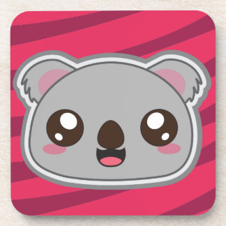 Kawaii, fun, funny and cool koala coaster