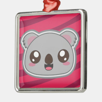 Kawaii, fun, funny and cool koala ornamnet metal ornament