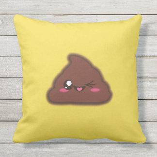 Kawaii, fun, funny and cool poop throw pillow