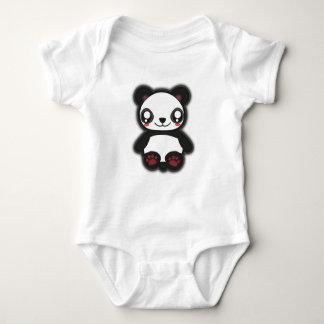 Kawaii, fun, funny and spooky panda shirt for baby