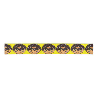 Kawaii funny and cool donut grosgrain ribbon