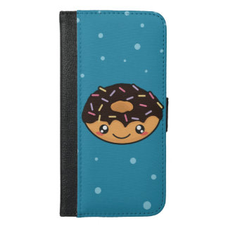 Kawaii funny and cool donut iPhone 6/6s plus wallet case