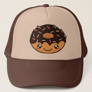 Kawaii funny and cool donut trucker hat