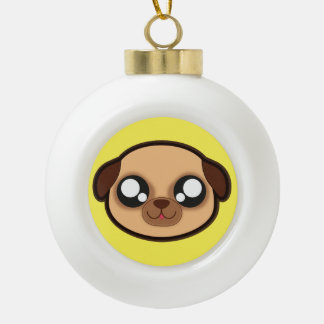 Kawaii funny dog christmas ornament