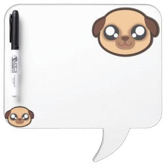 Kawaii funny dog erase board