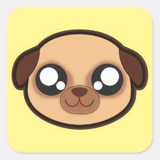 Kawaii funny dog square sticker