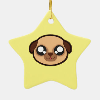 Kawaii funny dog star ornament