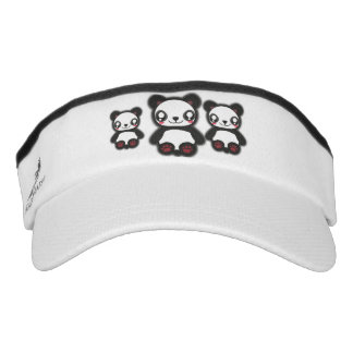 Kawaii funny panda head sweats visor