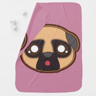 Kawaii funny pug baby blanket