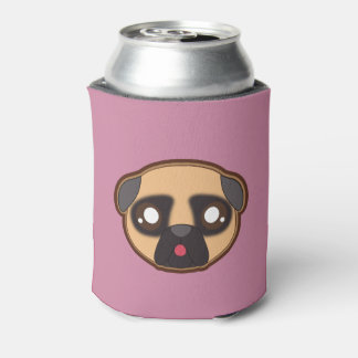 Kawaii funny pug bottle cooler