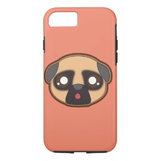 Kawaii funny pug case for the iphone