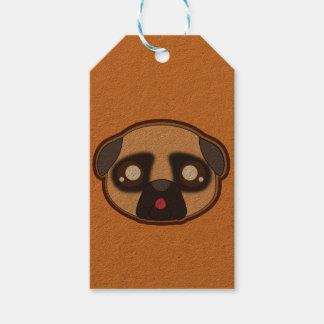 Kawaii funny pug gift tag